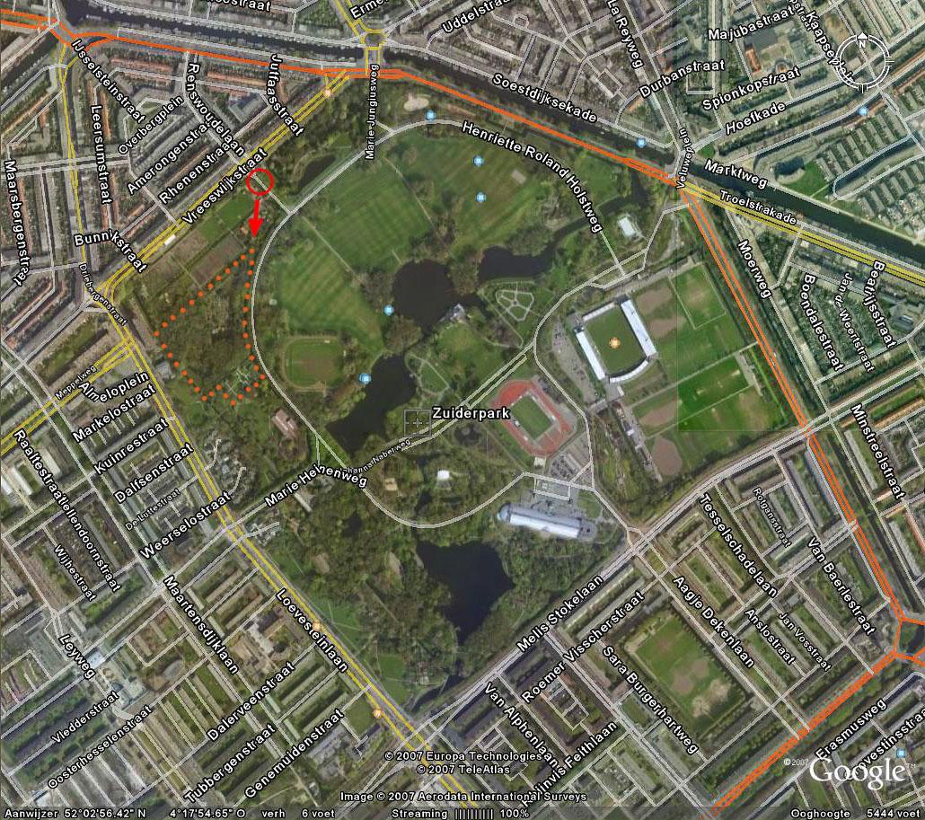 Heimanshof Zuiderpark Kaart